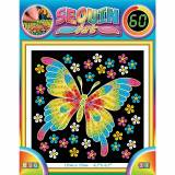 MAMMUT Spiel und Geschenk Sequin Art 60 Schmetterling