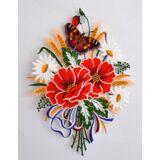 Stickereien Plauen Fensterbild »Herbstblumenstrauß« (1 Stück), bunt
