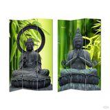 HTI-Line Paravent »Buddha 2«, Schwarz