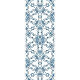 queence Vinyltapete »Muster-Blau«, 90 x 250 cm, selbstklebend, blau/weiß