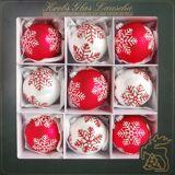 Krebs Glas Lauscha Weihnachtsbaumkugel »Schneeflocken« (9 Stück), mundgeblasen