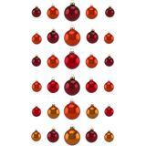 Thüringer Glasdesign Weihnachtsbaumkugel »Sienna« (30 Stück), Made in Germany