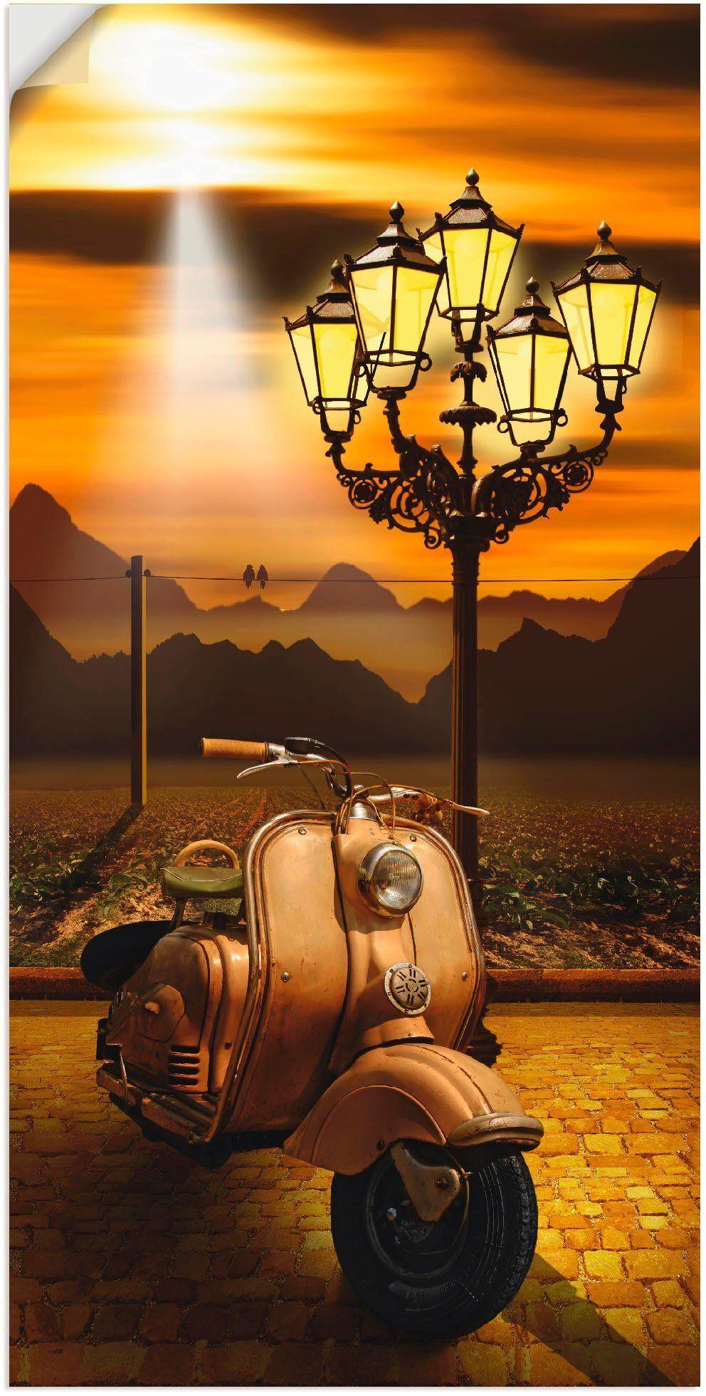 Artland Wandbild »Oldtimer Motorroller romantisch«, Motorräder & Roller (1 Stück)