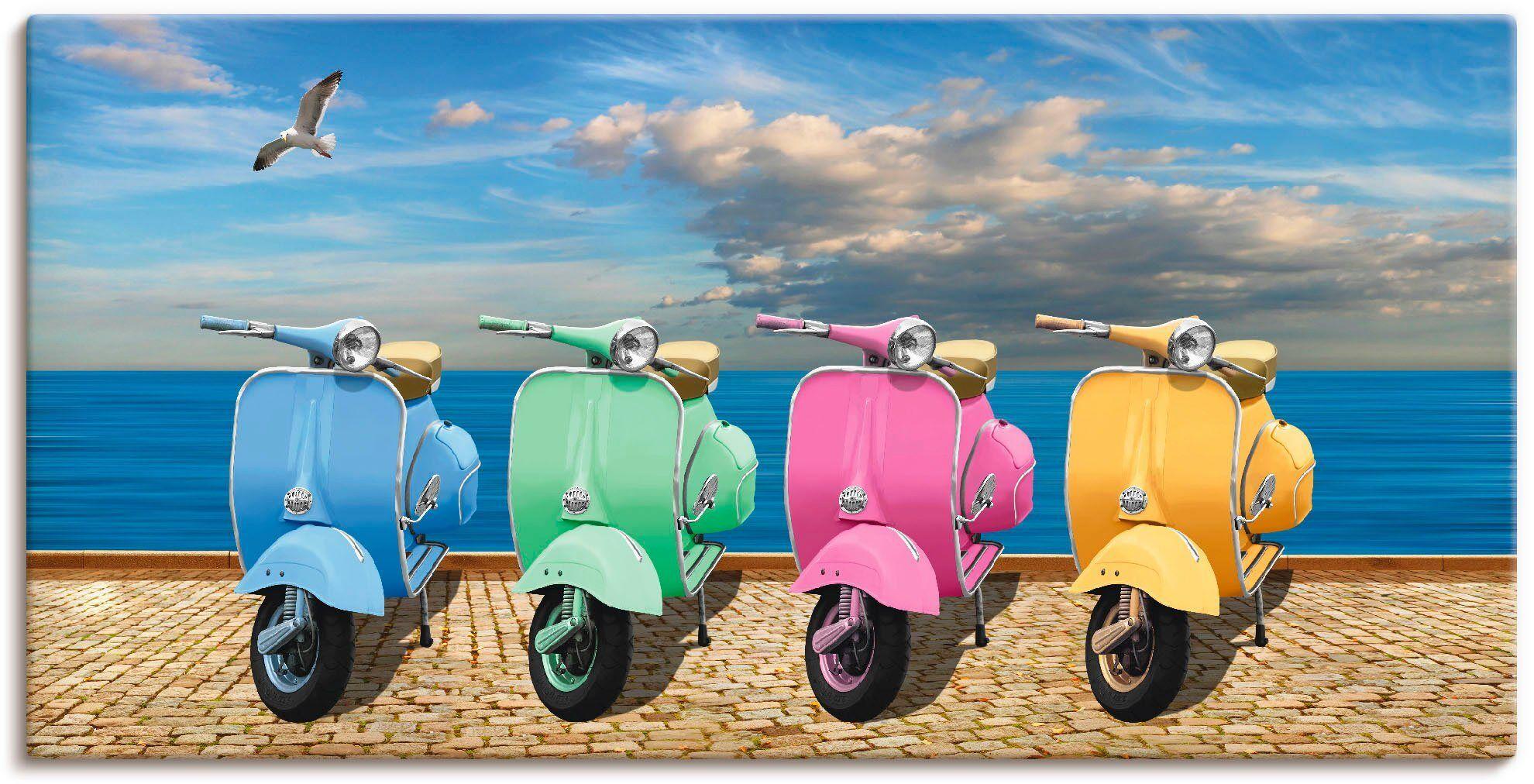 Artland Wandbild »Vespa-Roller in bunten Farben«, Motorräder & Roller (1 Stück)