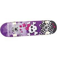 hudora skateboard skull, abec 5, lila
