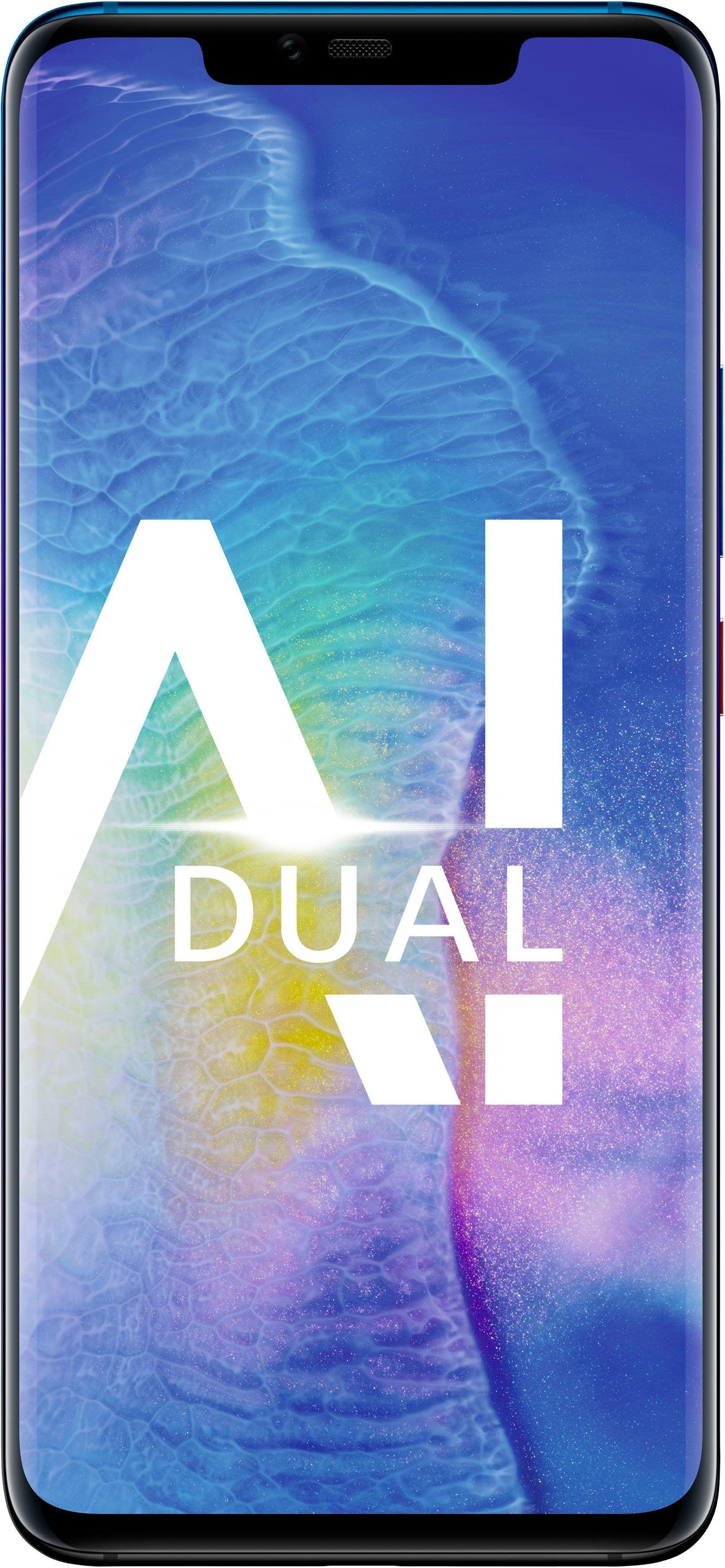 Huawei Mate20 Pro Smartphone (16,23 cm/6,3 Zoll, 128 GB Speicherplatz, 40 MP Kamera), Twilight