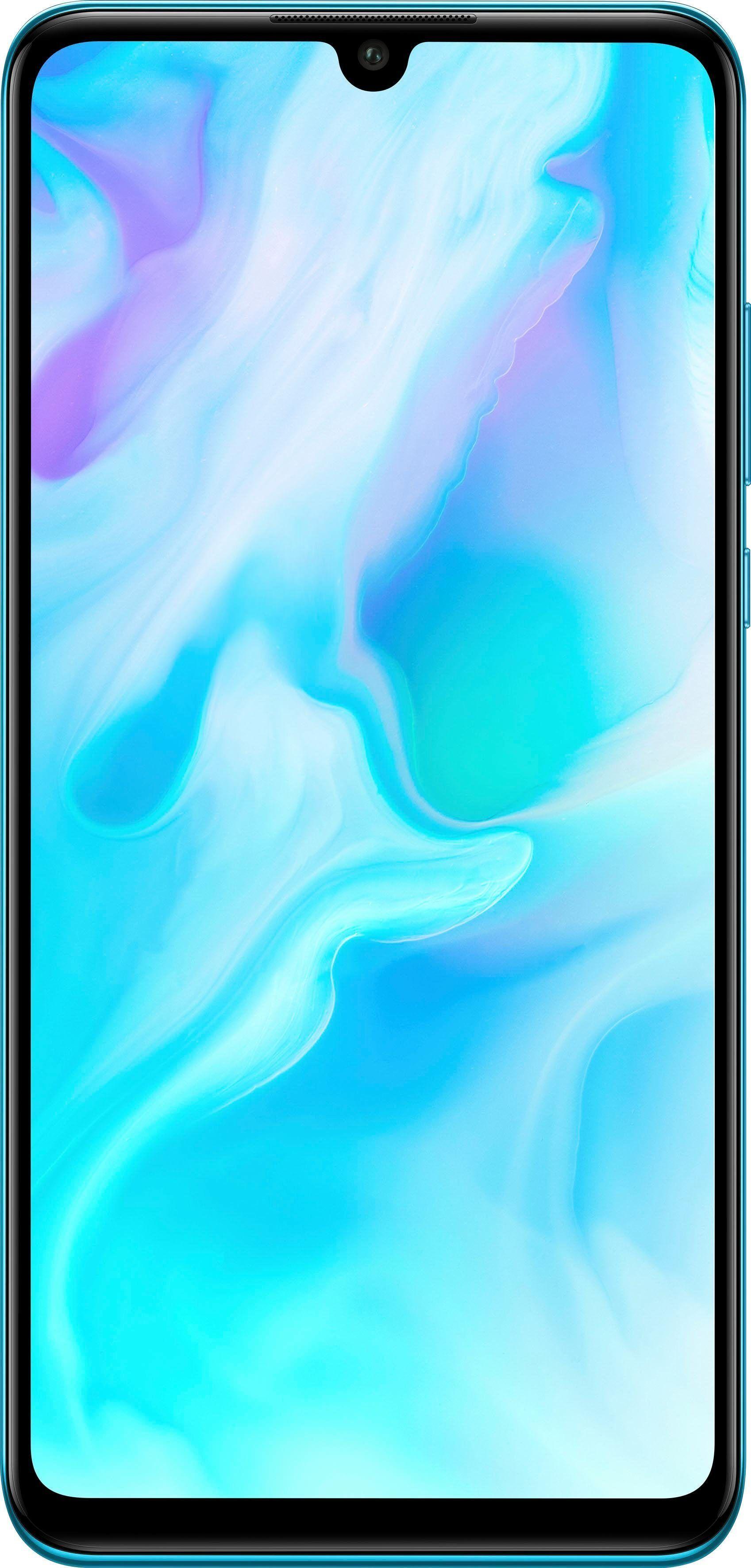 Huawei P30 lite Smartphone (15,62 cm/6,1 Zoll, 128 GB Speicherplatz, 48 MP Kamera), peacock blue