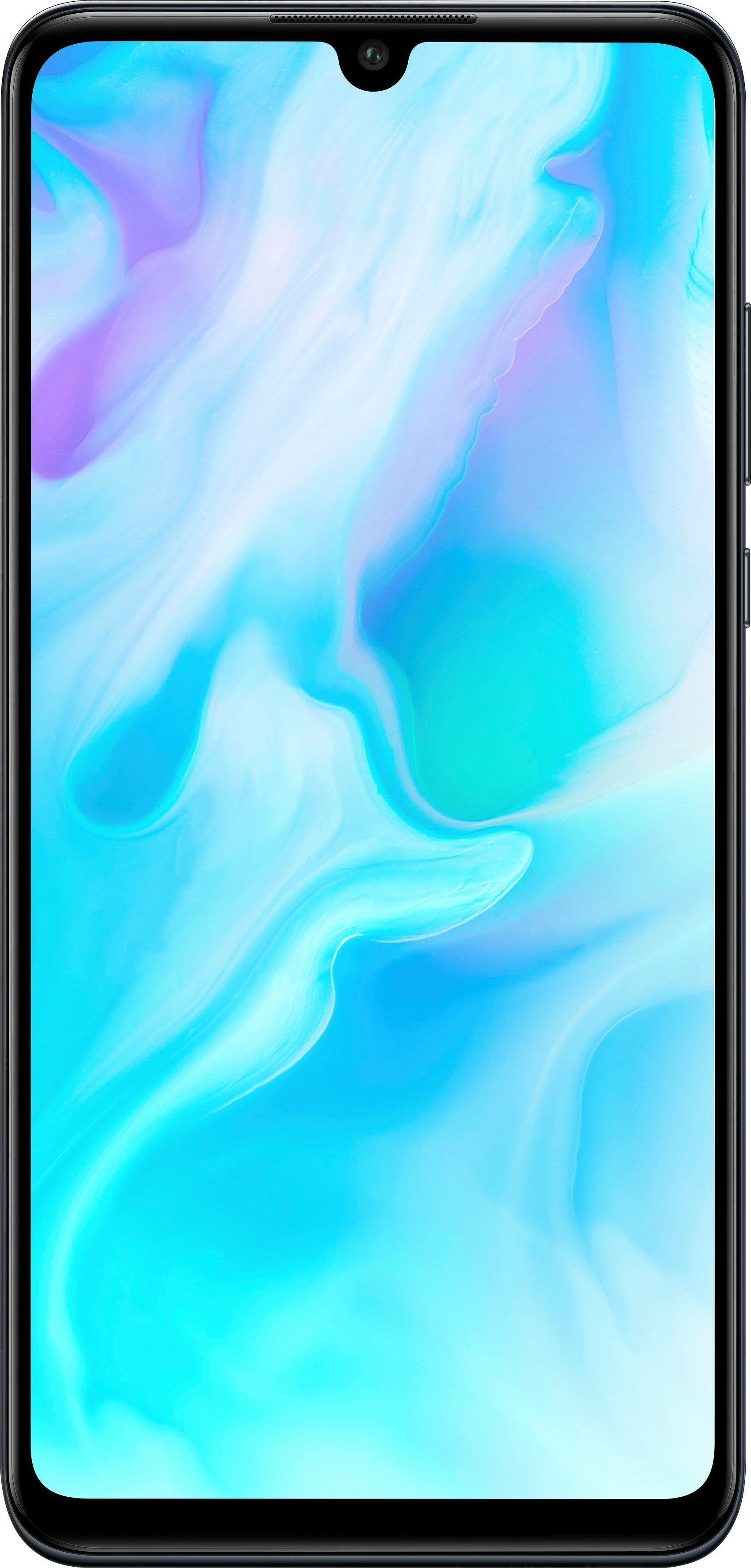 Huawei P30 lite Smartphone (15,62 cm/6,1 Zoll, 128 GB Speicherplatz, 48 MP Kamera), midnight black