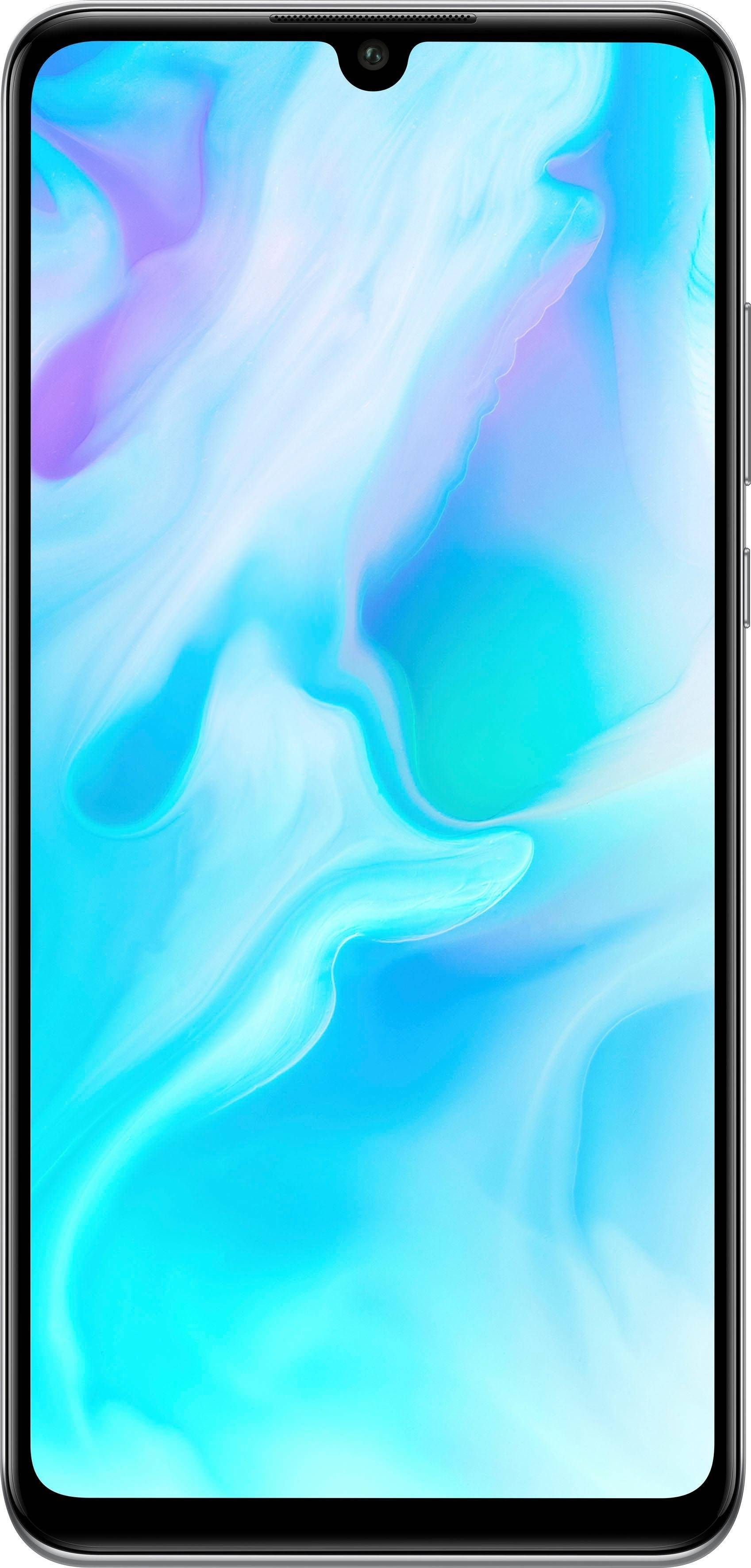 Huawei P30 lite Smartphone (15,62 cm/6,1 Zoll, 128 GB Speicherplatz, 48 MP Kamera), pearl white