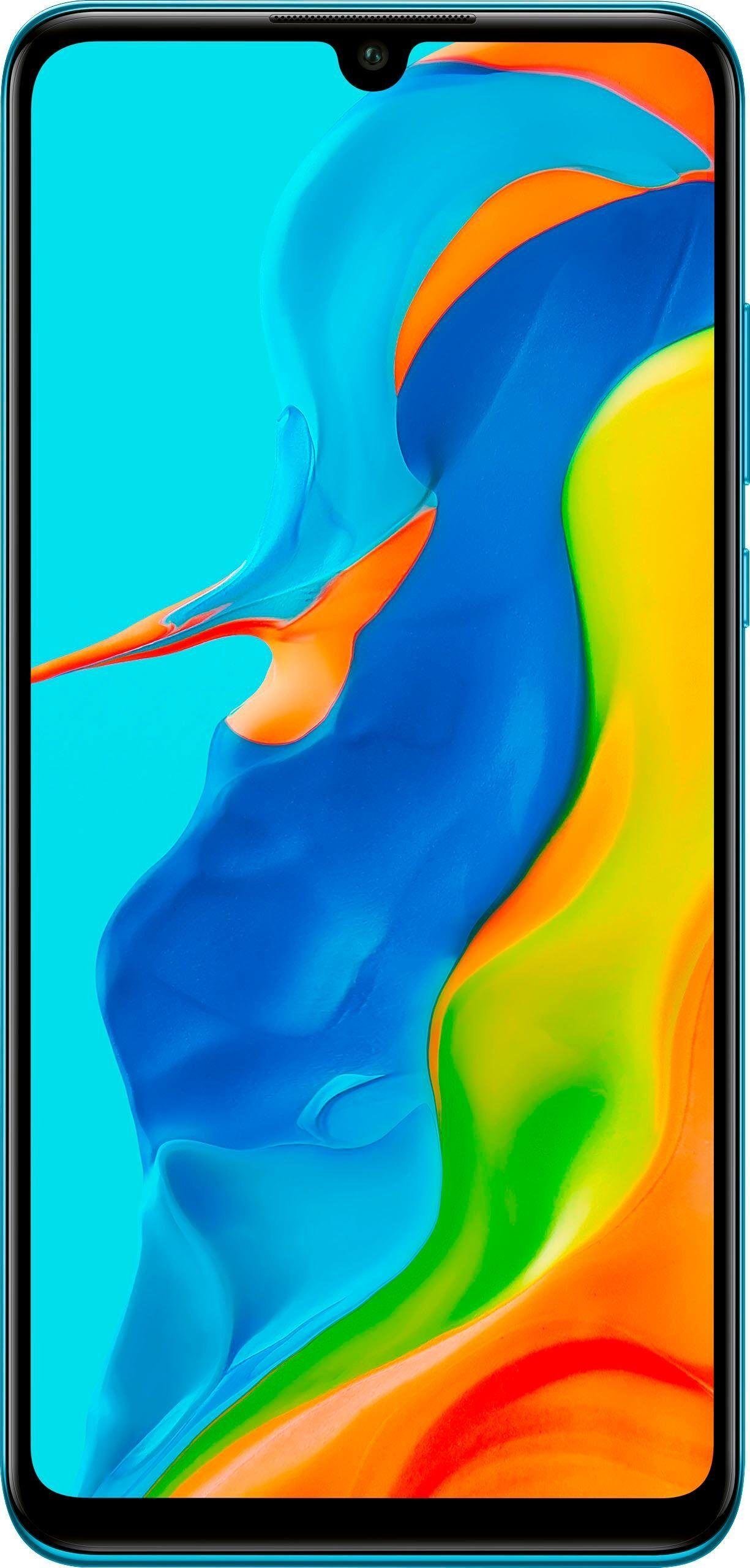 Huawei P30 Lite New Edition Smartphone (15,62 cm/6,15 Zoll, 256 GB Speicherplatz, 48 MP Kamera), peacock blue