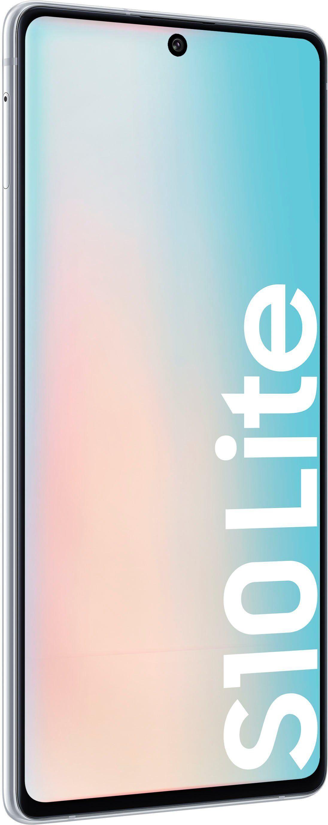 Samsung Galaxy S10 Lite Smartphone (16,95 cm/6,7 Zoll, 128 GB Speicherplatz, 48 MP Kamera), prism white