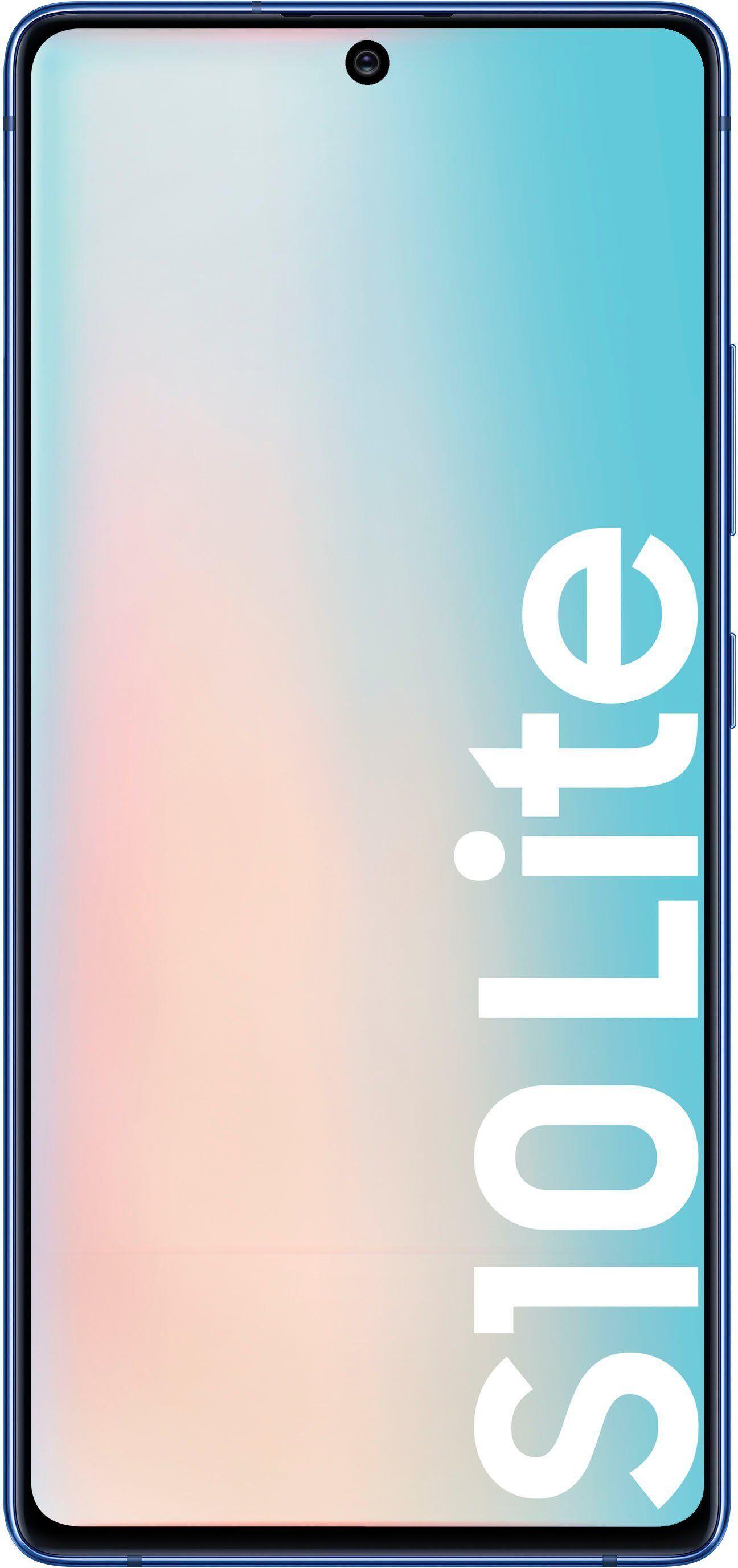 Samsung Galaxy S10 Lite Smartphone (16,95 cm/6,7 Zoll, 128 GB Speicherplatz, 48 MP Kamera), prism blue