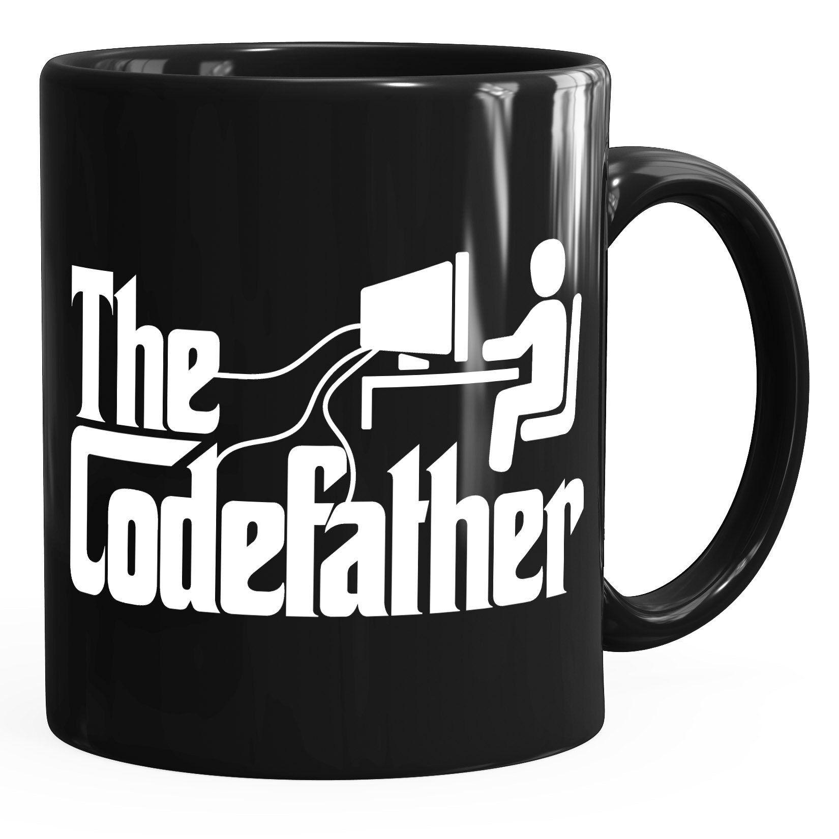 MoonWorks Tasse »Kaffeetasse The Codefather Programmierer IT Informatiker Coder Geschenk-Tasse ®«