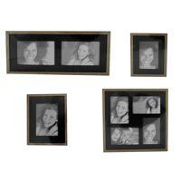 hti-line galerierahmen »bilderrahmenset fotogalerie fotorahmen«, bilderrahmen-set, schwarz