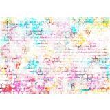 Consalnet Vliestapete »BUNTE ZIEGEL«, 152,5 x 104 cm, rosa/weiß/orange