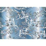 Consalnet Papiertapete »ORNAMENT«, 368 x 254 cm, silberfarben/grau/blau