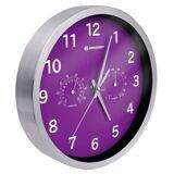 BRESSER Wanduhr »MyTime DCF Thermo-/ Hygro- Wanduhr 25cm«, violett
