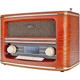 Dual »NR 1« Stereoanlage (Digitalradio (DAB), FM-Tuner mit RDS, FM-Tuner, Steckernetzteil, Deutsche Bedienungsanleitung), holzfarben