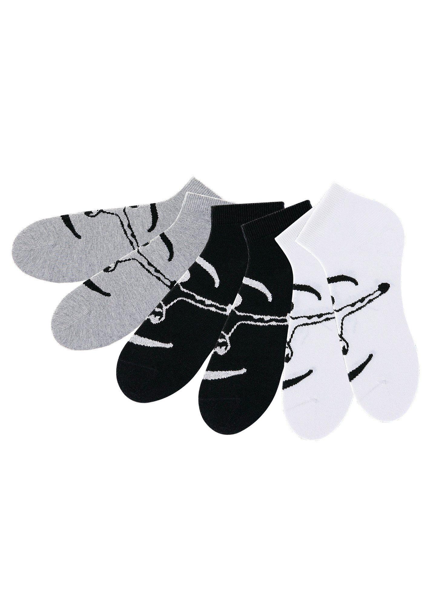 Chiemsee Sneakersocken (6 Paar) ideal für Sport & Freizeit, schwarz   weiß   grau