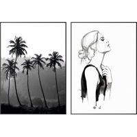 wandbild »relaxed schwarz-weiß - wandbilder set«, (set, 2 stück)