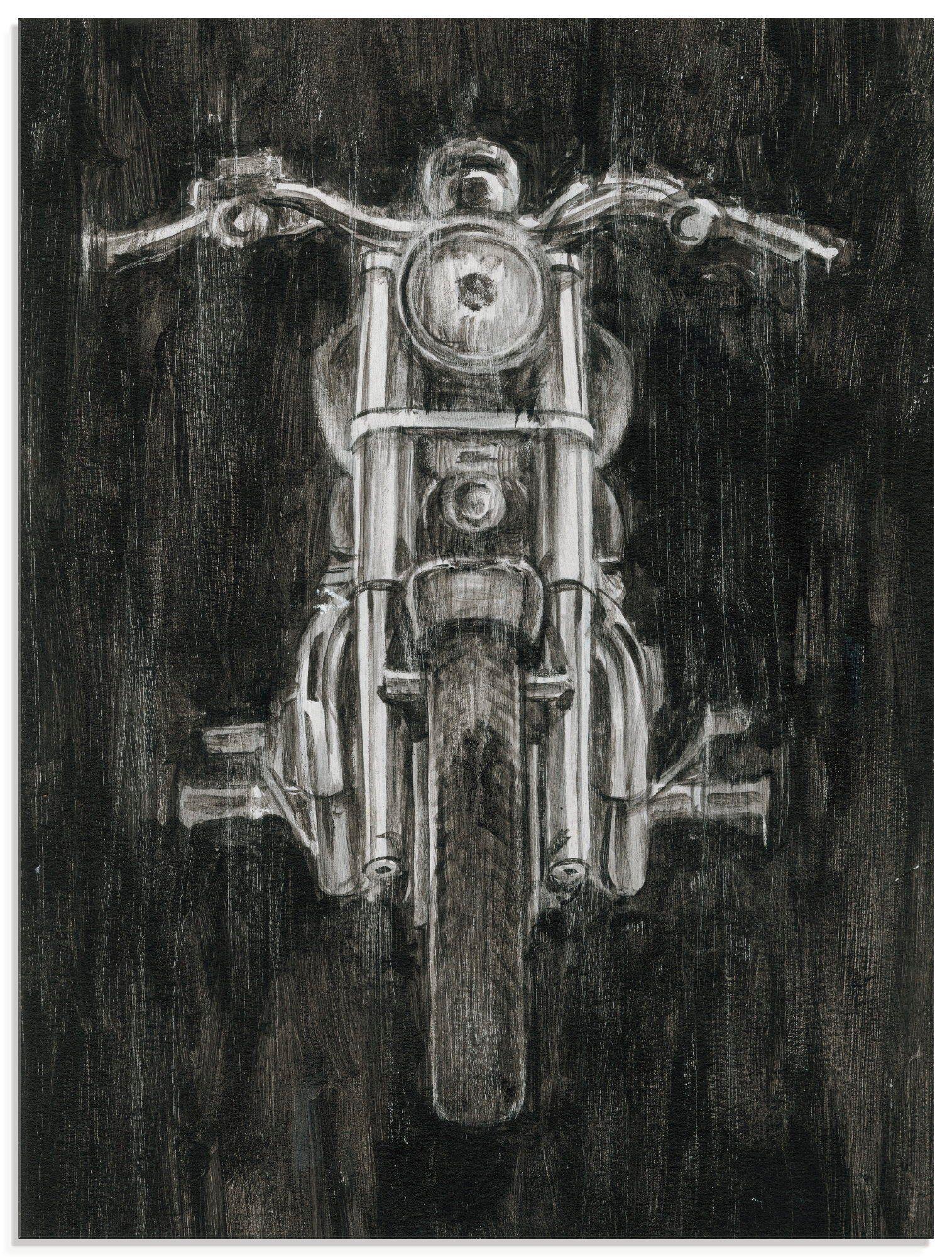 Artland Glasbild »Eisernes Pferd II«, Motorräder & Roller (1 Stück)