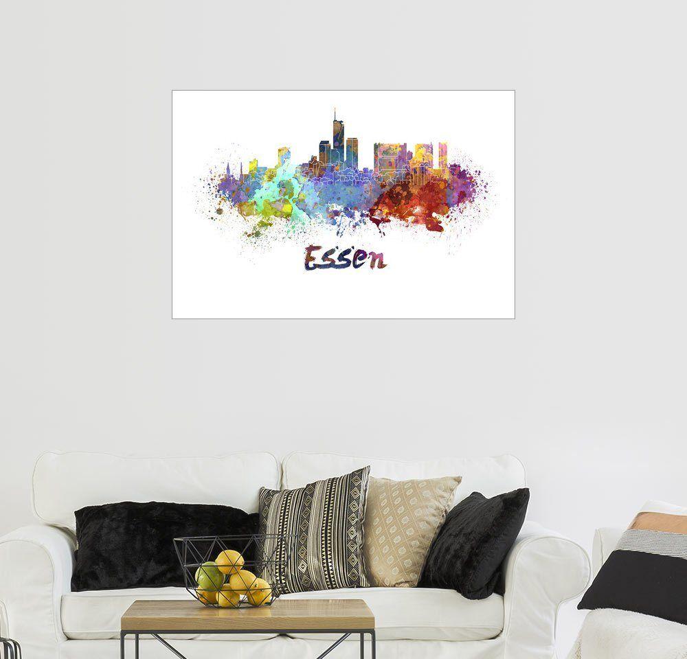 Posterlounge Wandbild »Essen Skyline«, weiß