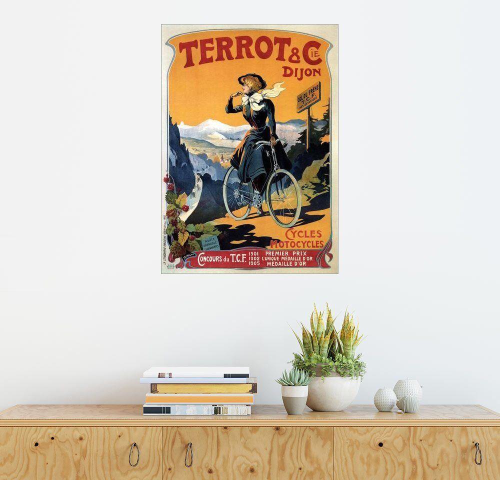 Posterlounge Wandbild »Terrot & Cie Dijon Fahrräder und Motorräder«, bunt