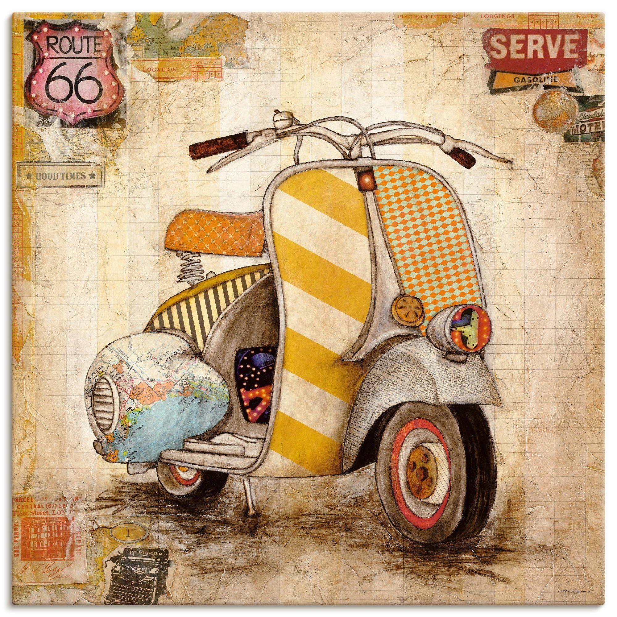 Artland Wandbild »Drum herum I«, Motorräder & Roller (1 Stück)