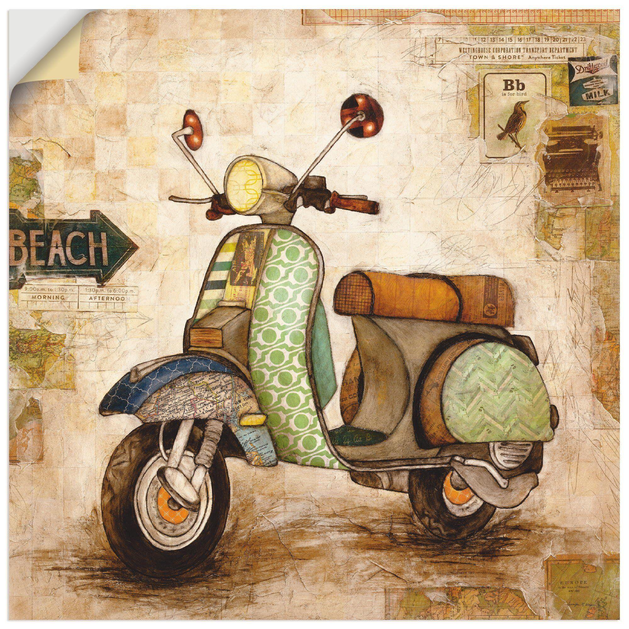 Artland Wandbild »Drum herum II«, Motorräder & Roller (1 Stück)