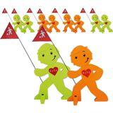 Beachtrekker StreetBuddy Warnfigur für Kindersicherheit, grün/orange, 10, grün/orange