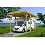 Skanholz Einzelcarport »Friesland«, BxT: 397x708 cm, für Caravan, grün