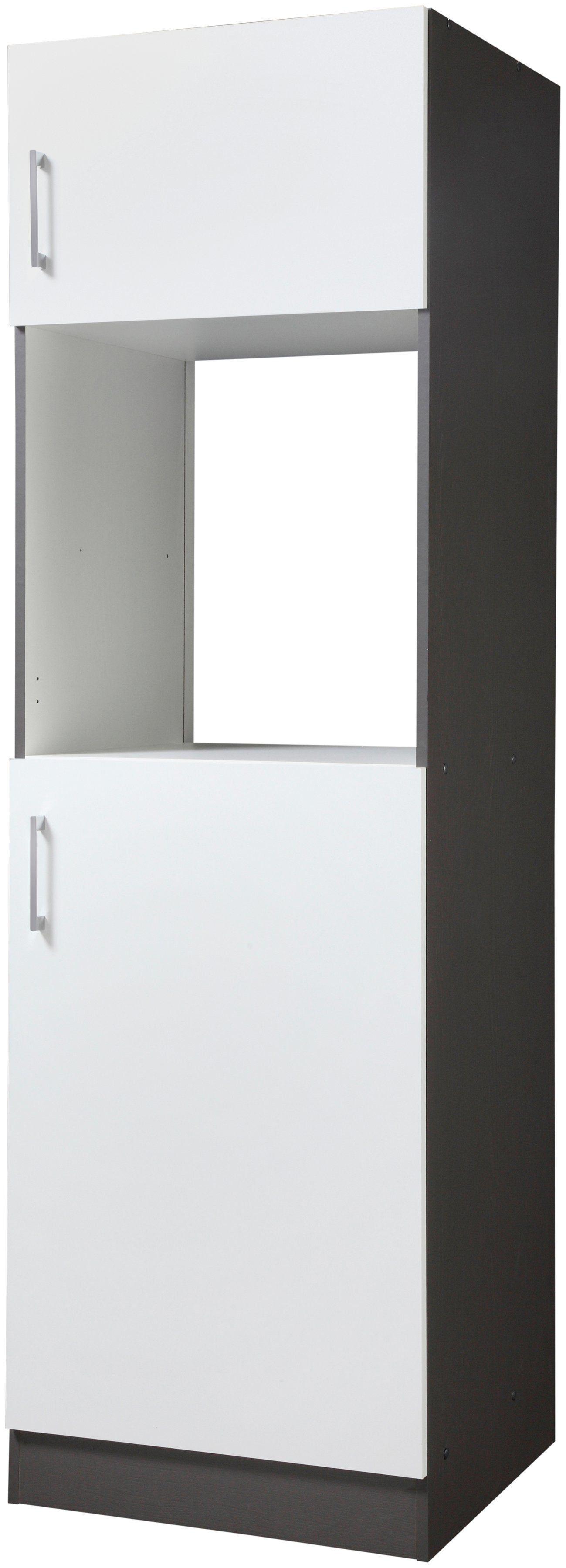 HELD MÖBEL Backofen/Kühlumbauschrank »Paris« Breite 60 cm, weiß/ graphit