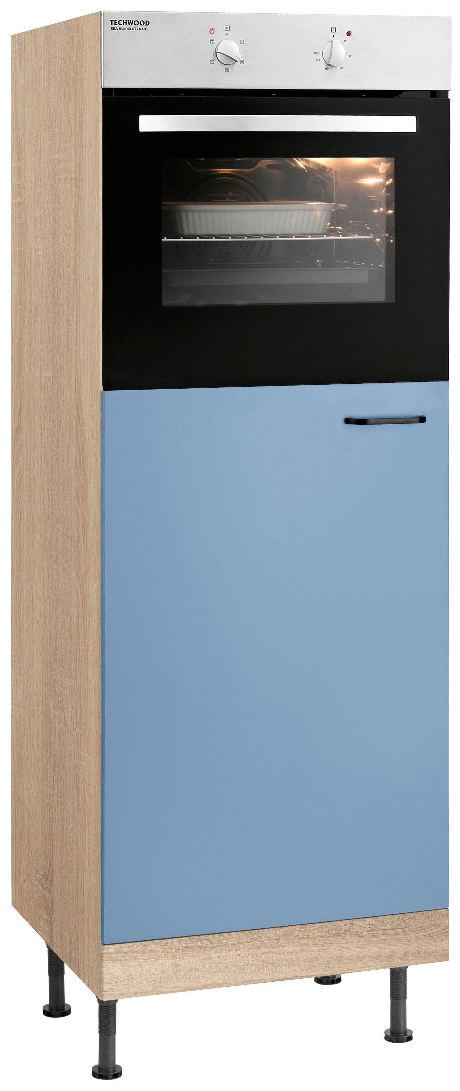 OPTIFIT Backofen/Kühlumbauschrank »Elga«, Breite 60 cm, lichtblau/eichefarben