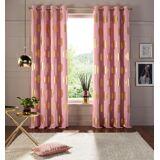my home Vorhang »Kreise«, , Ösen (1 Stück), Foliendruck, rosé-altgoldfarben