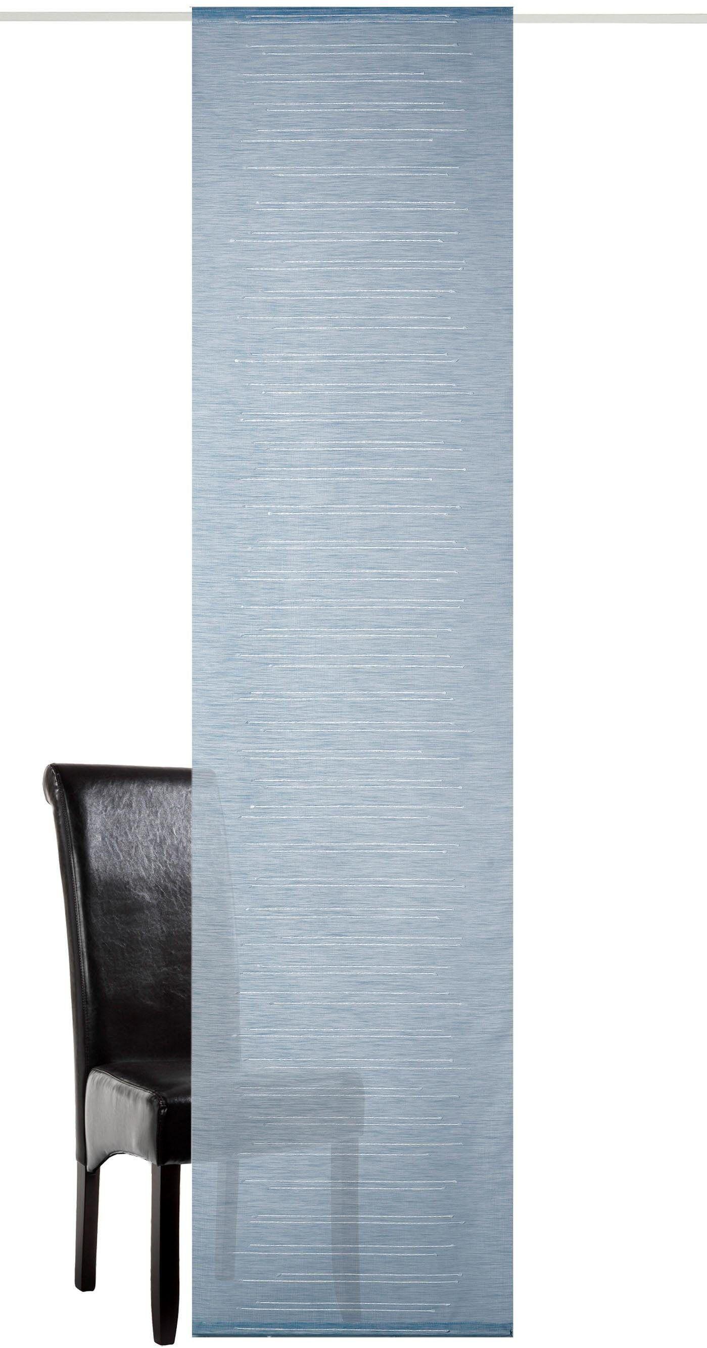 Neutex for you! Schiebegardine »Uno«, , Paneelwagen (1 Stück), Schiebevorhang mit Alupaneelwagen im Köcher, jeansblau