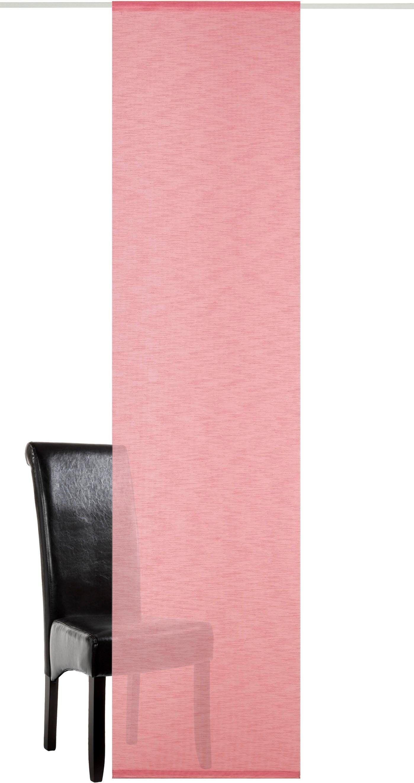 Neutex for you! Schiebegardine »Sky«, , Paneelwagen (1 Stück), Schiebevorhang mit Alupaneelwagen im Köcher, rosa