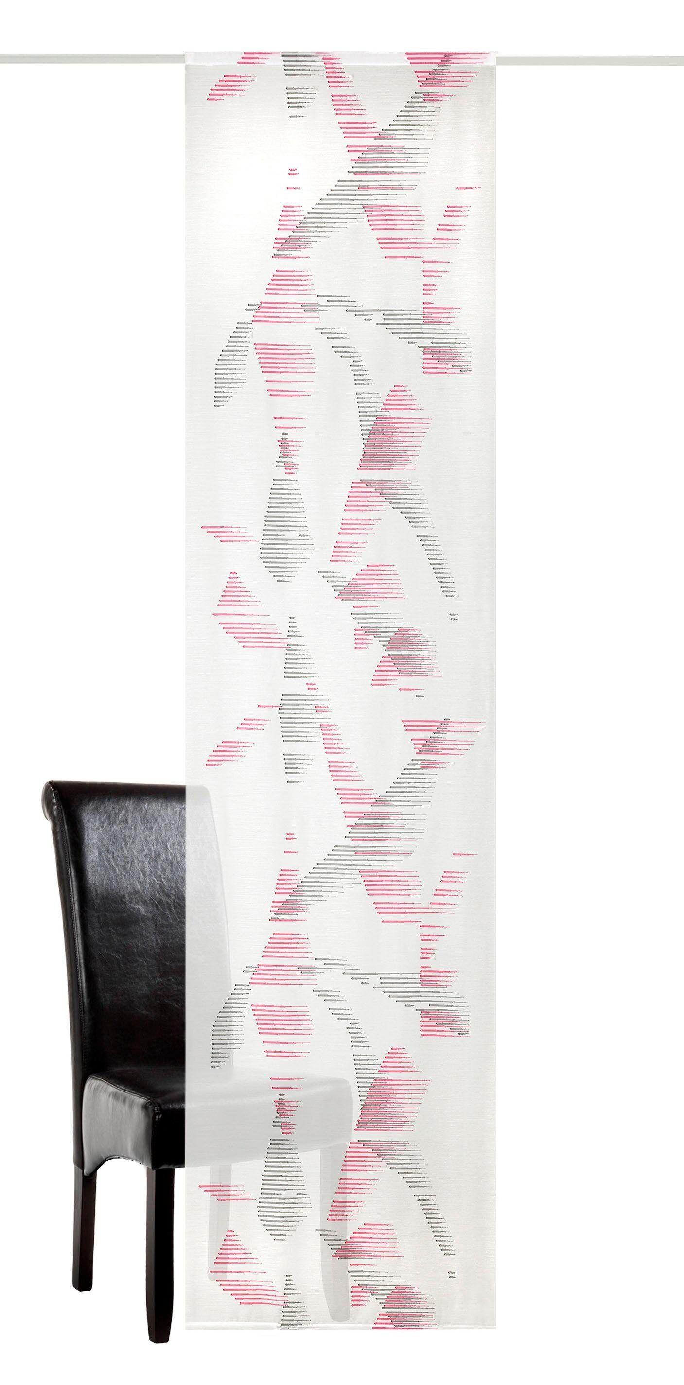 Neutex for you! Schiebegardine »Senta«, , Paneelwagen (1 Stück), Schiebevorhang mit Alupaneelwagen im Köcher, pink