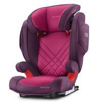 recaro autokindersitz »monza nova 2 seatfix - core - power berry«, 6.8 kg, (2-tlg), kinder autositz - ab 3,5 - 12 jahre (95 -150 cm)