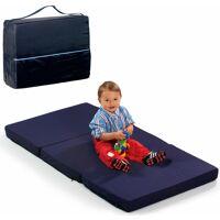 hauck klappmatratze »fun for kids, sleeper uni navy, 60x120 cm«, , 6 cm hoch, inklusive transporttasche
