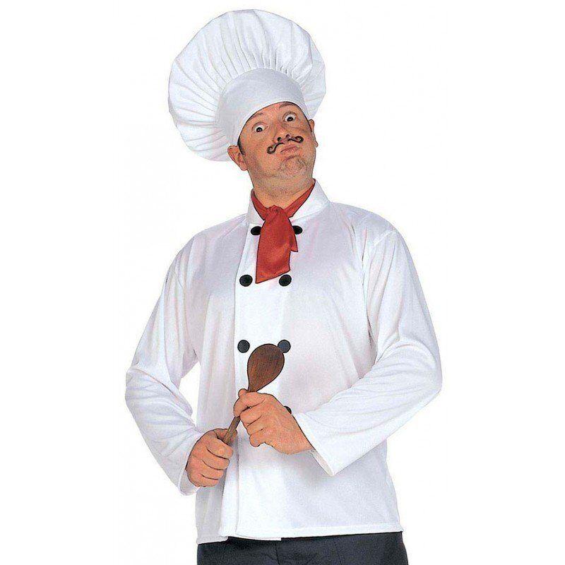 Koch Kostüm-Set 3-teilig - Einheitsgröße, weiß