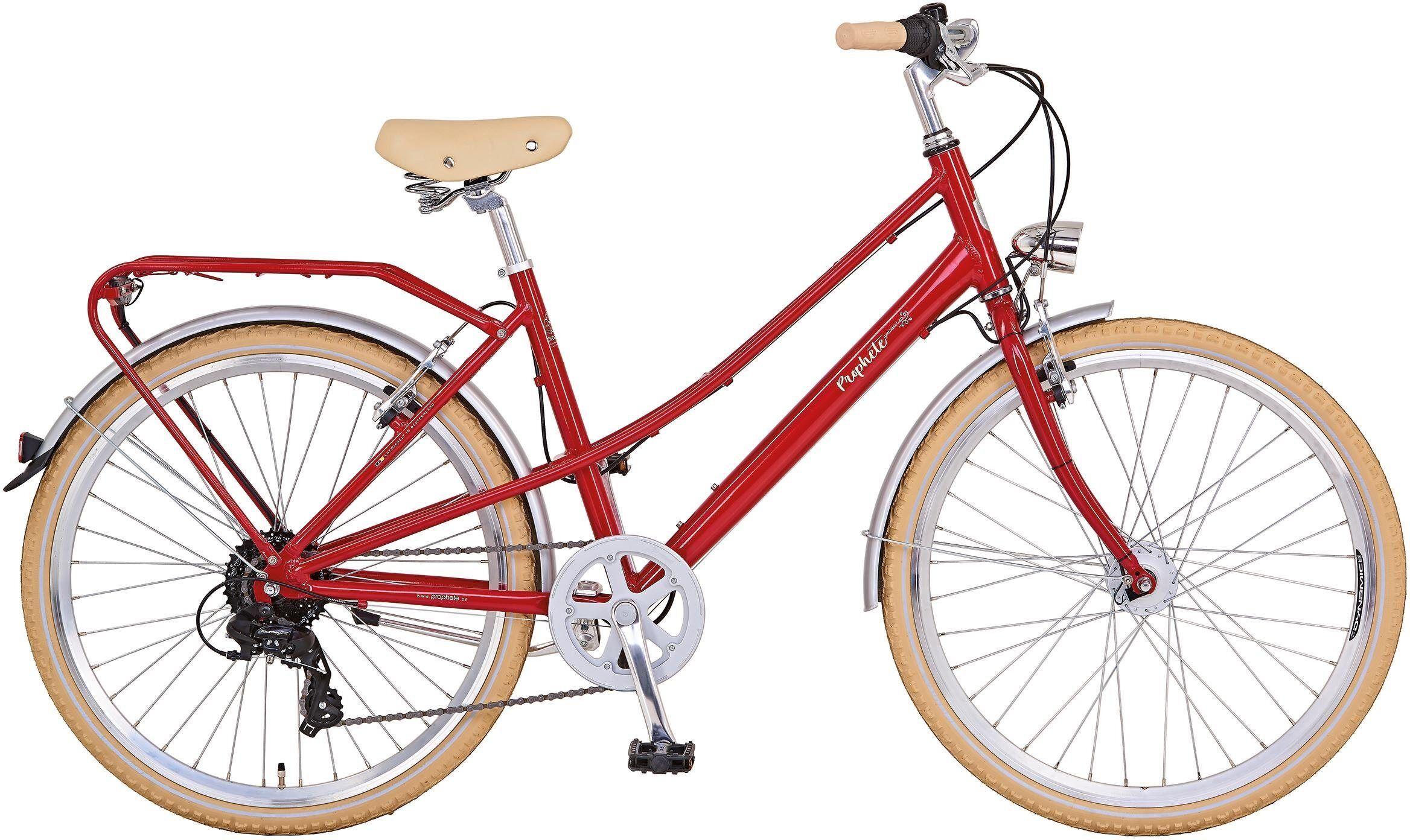 "Prophete Cityrad »GENIESSER Retro City Bike 26""«, 8 Gang, Kettenschaltung"