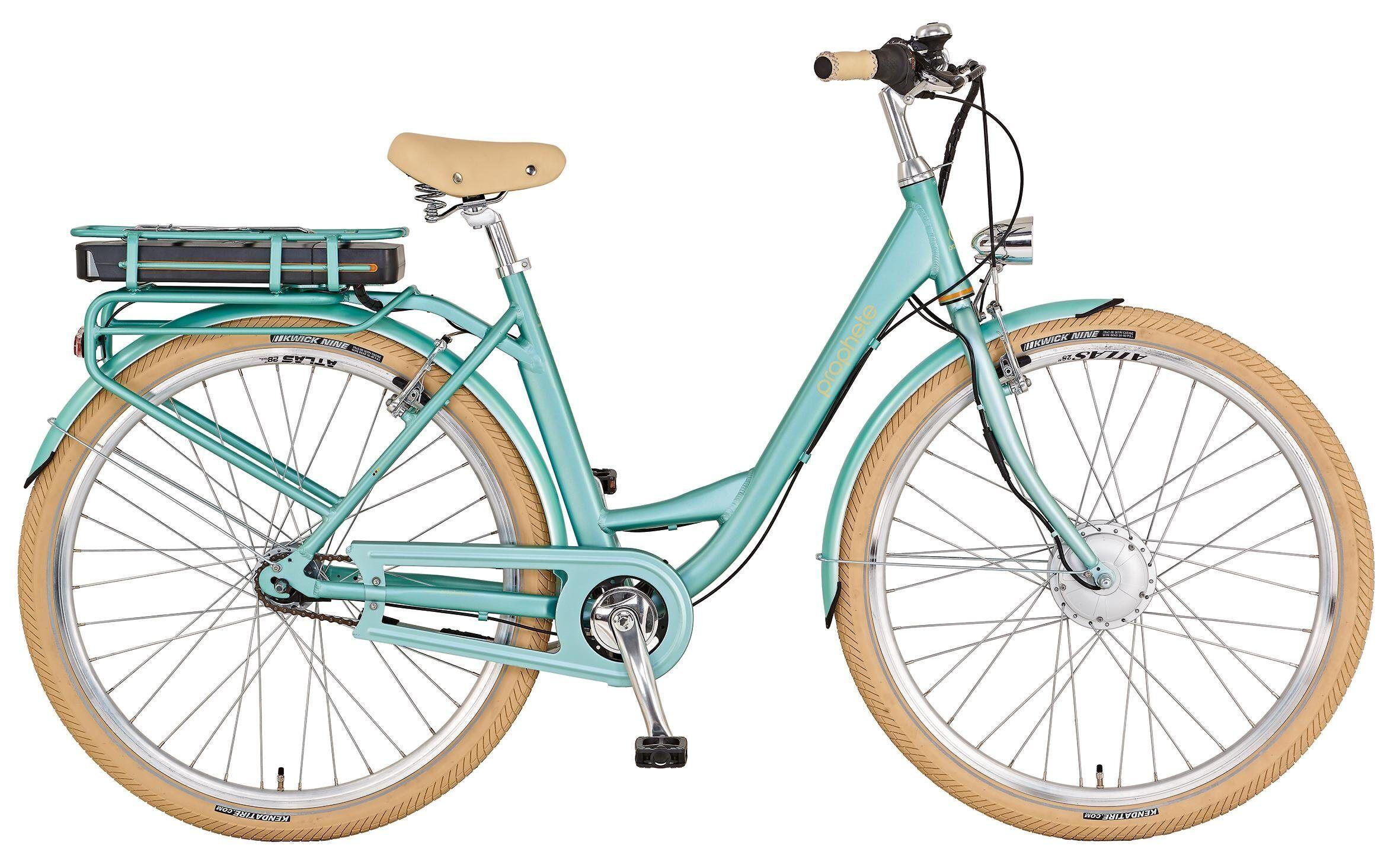 Prophete E-Bike »Geniesser e-retro«, 7 Gang, Nabenschaltung, Frontmotor 250 W, mint
