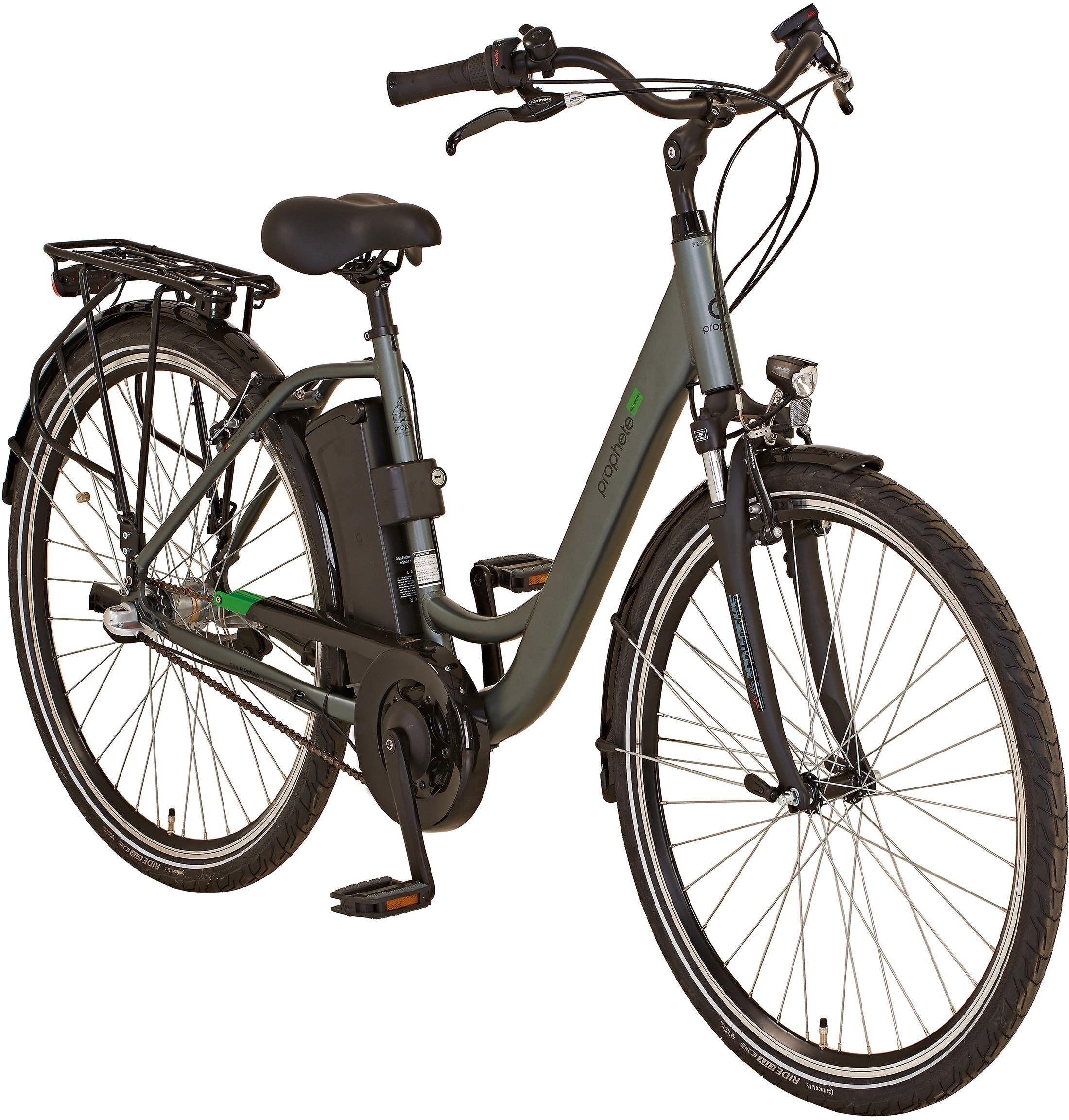 "Prophete E-Bike »GENIESSER City E-Bike 28""«, 3 Gang Shimano, Nabenschaltung, Mittelmotor 250 W"