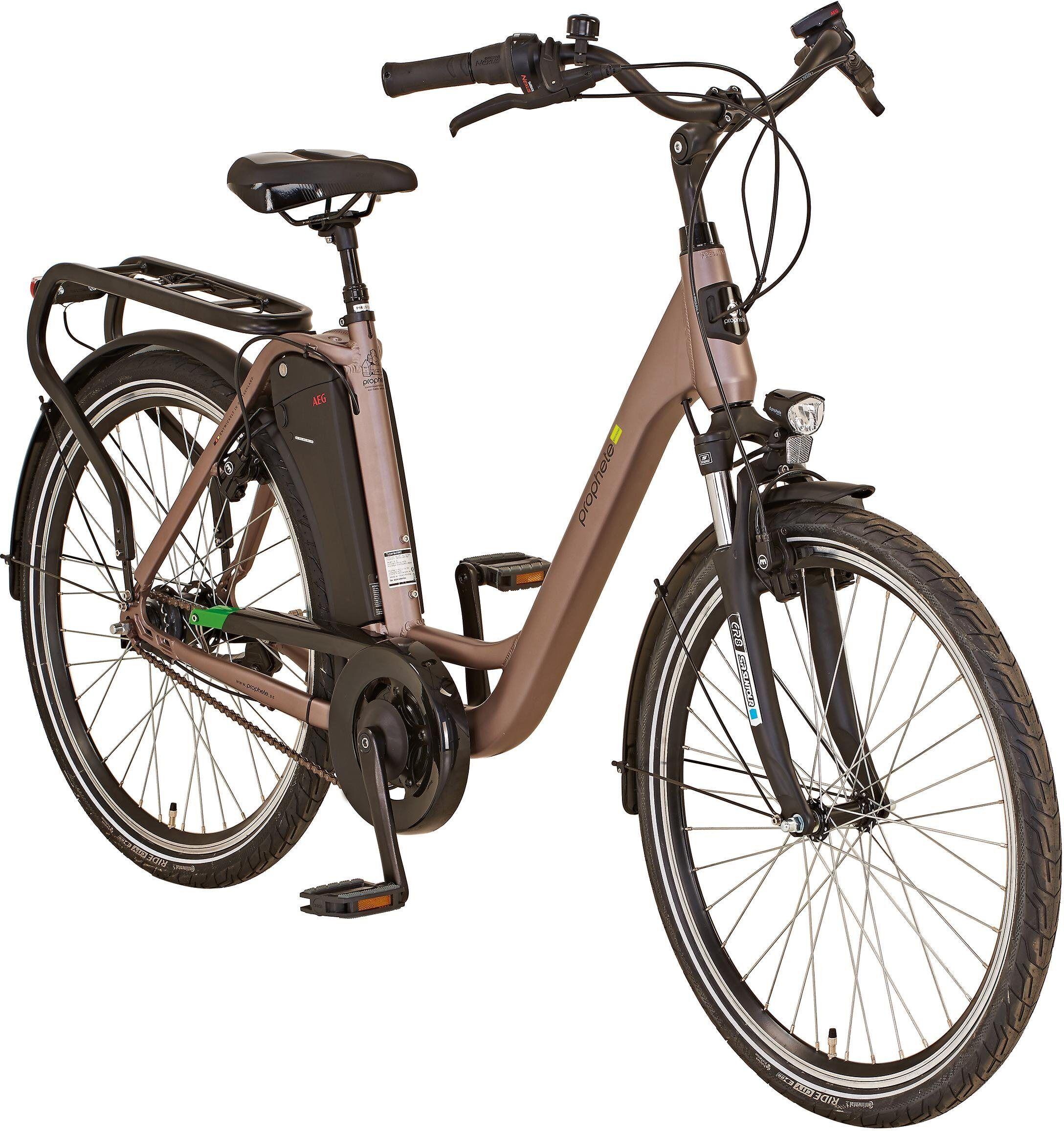 "Prophete E-Bike »GENIESSER City E-Bike 26""«, 7 Gang Shimano, Nabenschaltung, Mittelmotor 250 W"