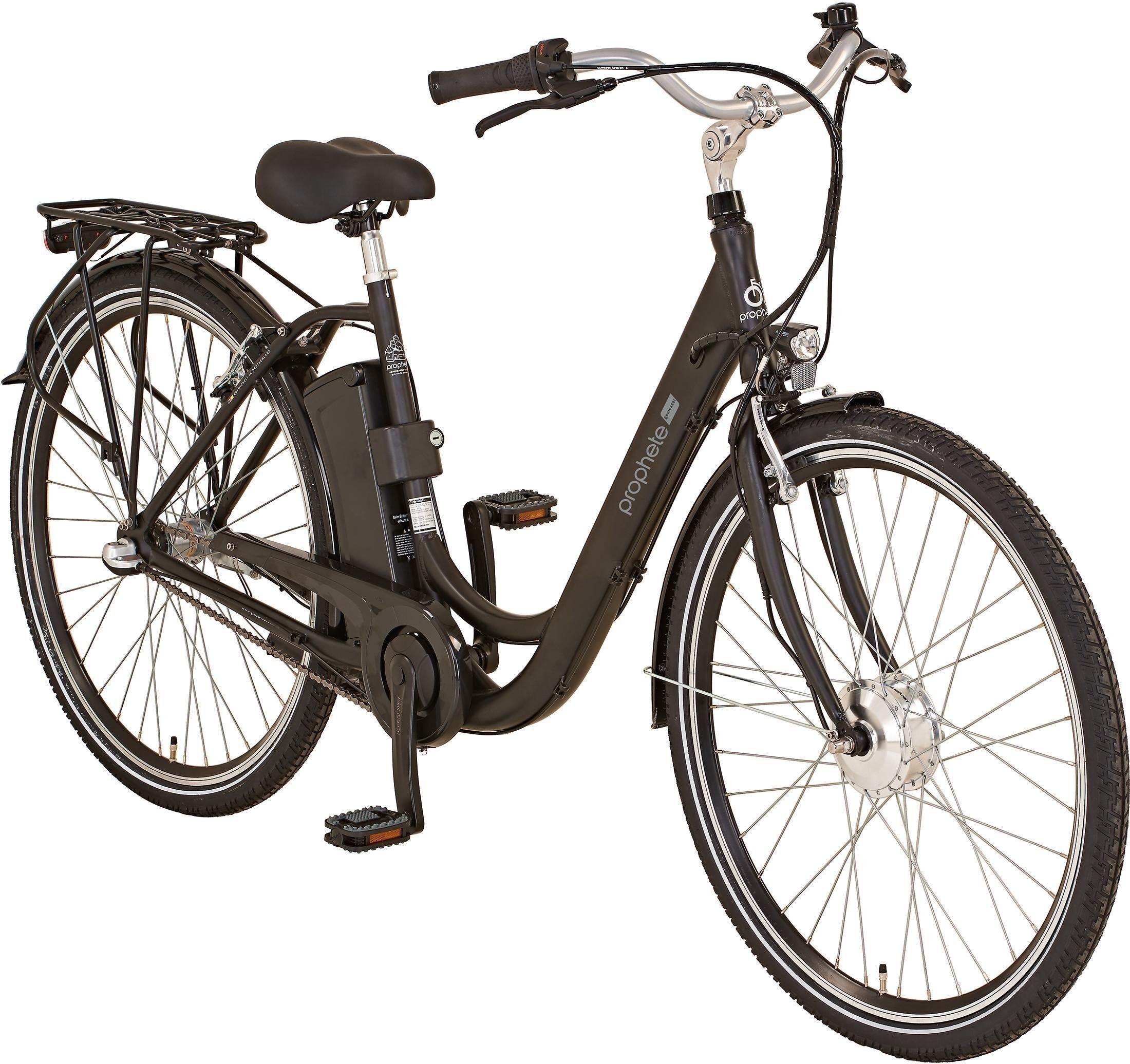 "Prophete E-Bike »GENIESSER City E-Bike 28""«, 3 Gang Shimano, Nabenschaltung, Frontmotor 250 W"