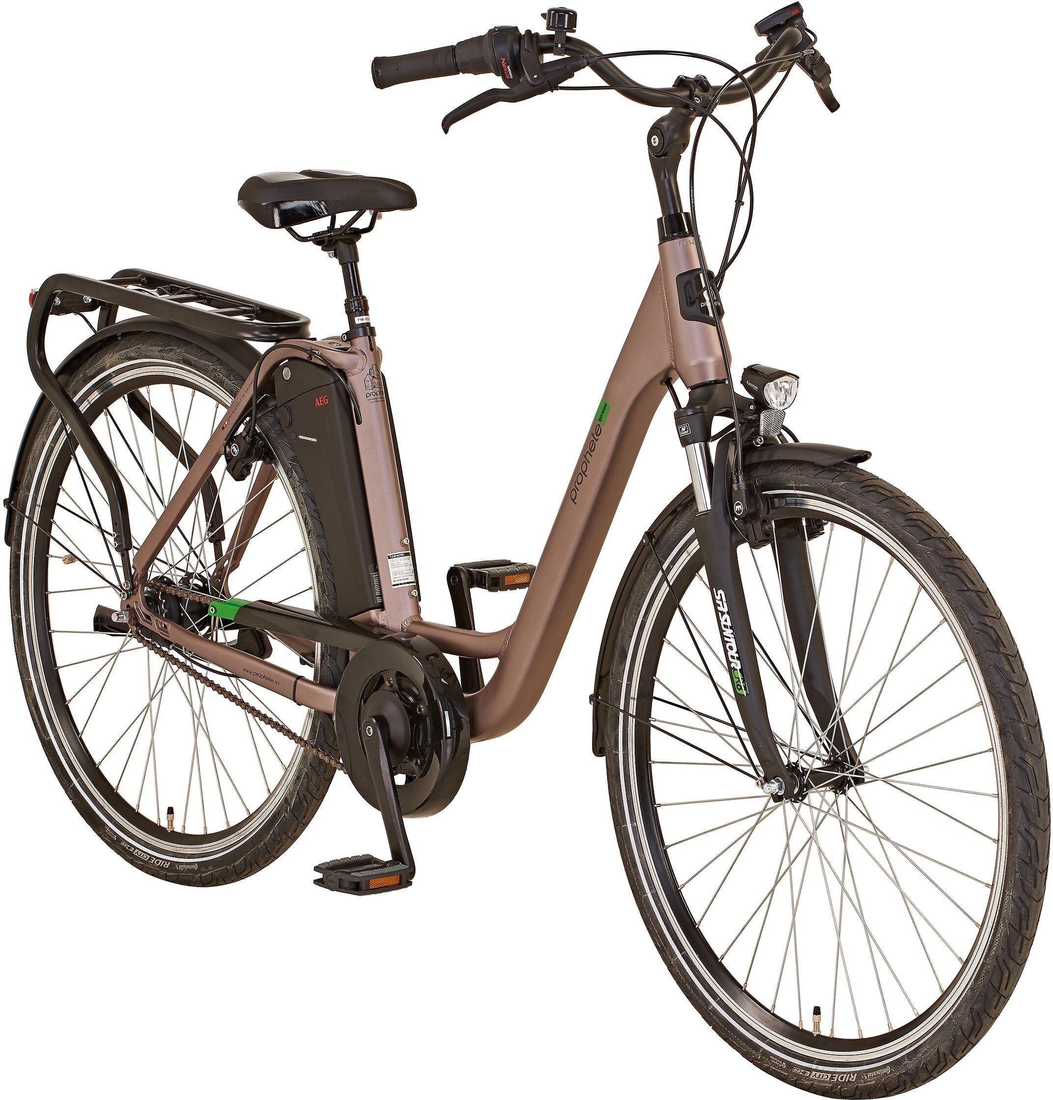 "Prophete E-Bike »GENIESSER City E-Bike 28""«, 7 Gang Shimano, Nabenschaltung, Mittelmotor 250 W"