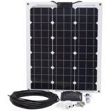 Sunset Set: Solarstrom-Set für Boote, Yachten oder Caravan, 50 Watt, schwarz