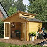 Sunset Set: Solarstrom-Set für Gartenhäuser, 75 Watt, schwarz
