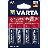 Varta 4er-Pack Batterien Mignon / AA / LR06 »LONGLIFE Max Power«, silberfarben