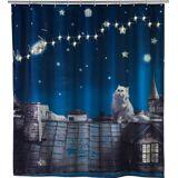 WENKO LED Duschvorhang »Moon Cat«, Mehrfarbig